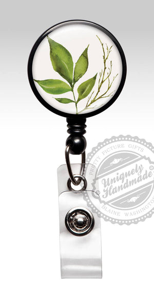 Botanical ID Badge Reel - Trending New Design Gift for Her 566