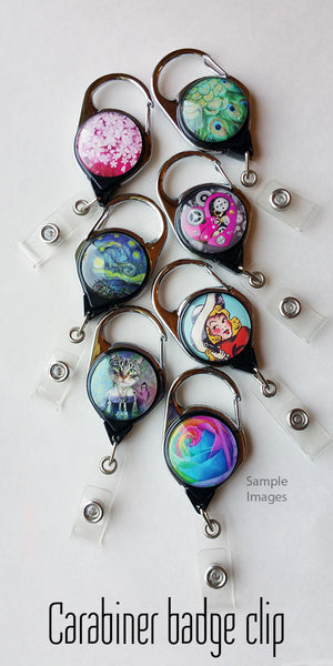 Alice in Wonderland ID Badge Holder - Teapot Drink Me Name Badge Reel Clips 61