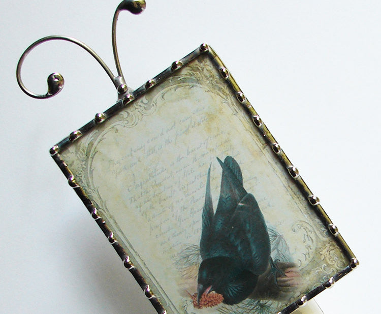 French Black Bird Night Light By Pretty Picture Gifts