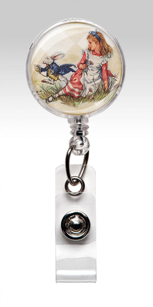 Alice in Wonderland Name Badge Reel Clips - Nurse Badge RN 100