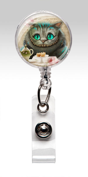 Alice in Wonderland Retractable ID Badge Holder - Cheshire Cat 203