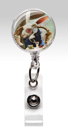 Alice in Wonderland ID Badge Holder - March Hare Nurse Badge 151
