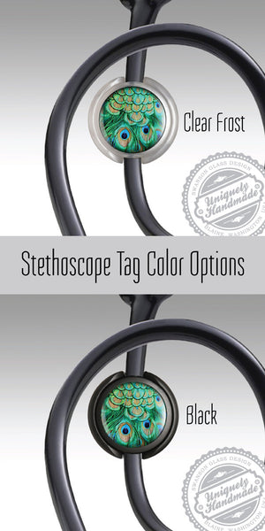 Boho Kaleidoscope Hippy Retractable Badge Holder - Stethoscope ID Tag 480