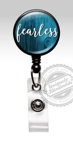 Fearless Retractable Badge Holder - Inspirational Badge Clip Cute Rn Gift 467