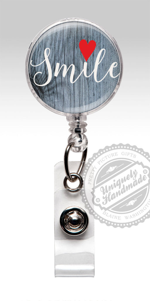 Insirational Quote Retractable Badge Holder - Smile Badge Clip Dentist Dental Office 492