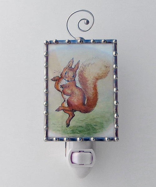 Unique Squirrel Nutkin Nursery Lighting Night Light Swanson Glass