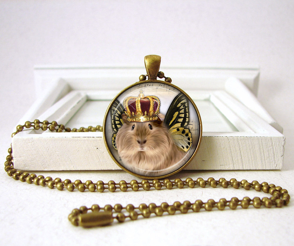 Royal Guinea Pig Jewelry Pendant Pet Jewelry