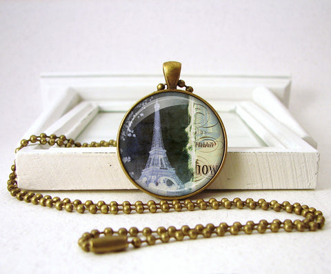 French Eiffel Tower Paris France Pendant