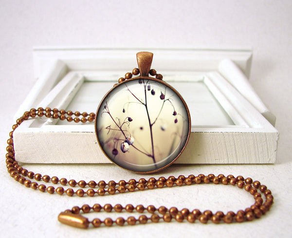 White Winter Branches Pendant