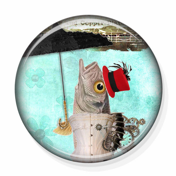 Fashion Accessory Small Mirror with fish image