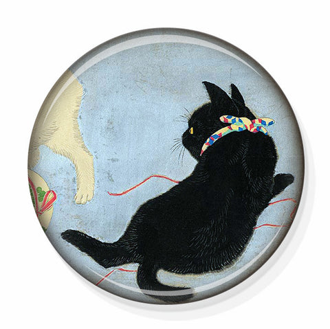 cute black cat mirror by pretty picture gifts