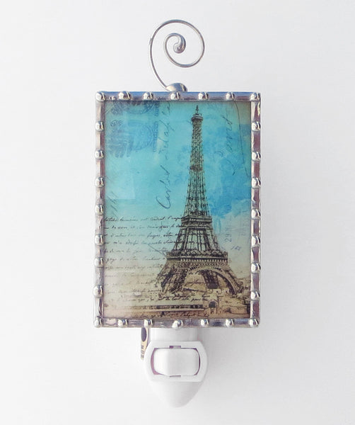 Stainge Glass Paris Eiffel Tower Night Light by Pretty Picture Gifts