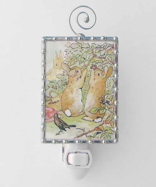Peter Rabbit and Brother Beatrix Potter Unique Night Light by Pretty Picture Gifts