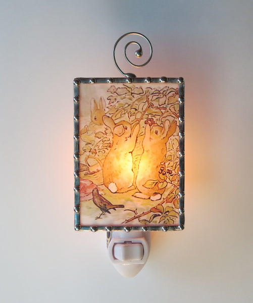 Beatrix Potter Peter Rabbit Illustration fancy Night Light by Pretty Picture Gifts