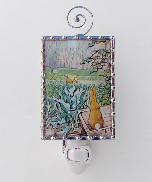 Peter Rabbit and Farmer Beatrix Potter Unique Night Light by Pretty Picture Gifts