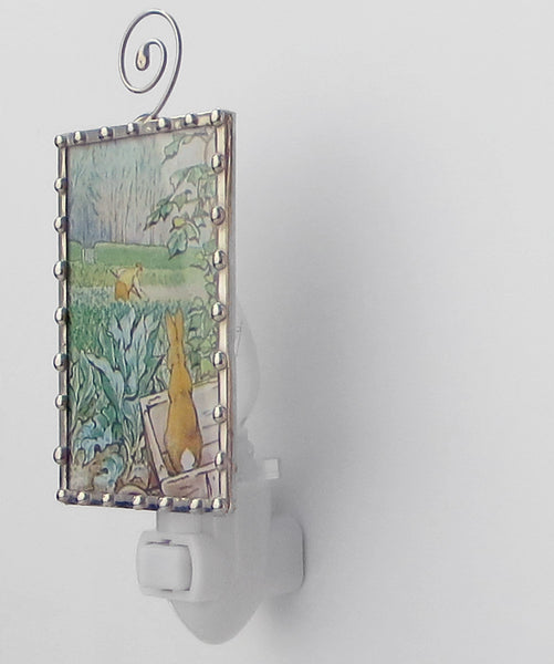 Peter Rabbit and Farmer Beatrix Potter handmade Night Light by Pretty Picture Gifts
