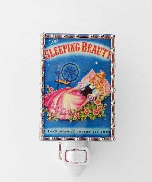Sleeping Beauty Children's Book Stained Glass Night Light by Pretty Picture Gifts