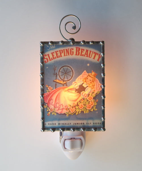 Sleeping Beauty Children's Book Handmade Night Light by Pretty Picture Gifts