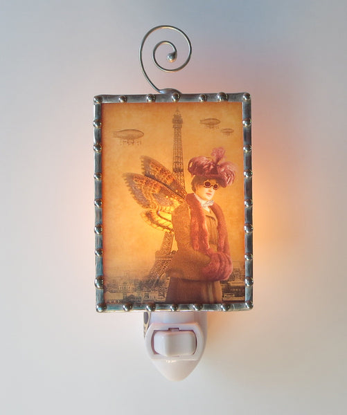 Steampunk style Stained Glass Night Light by Pretty Picture Gifts