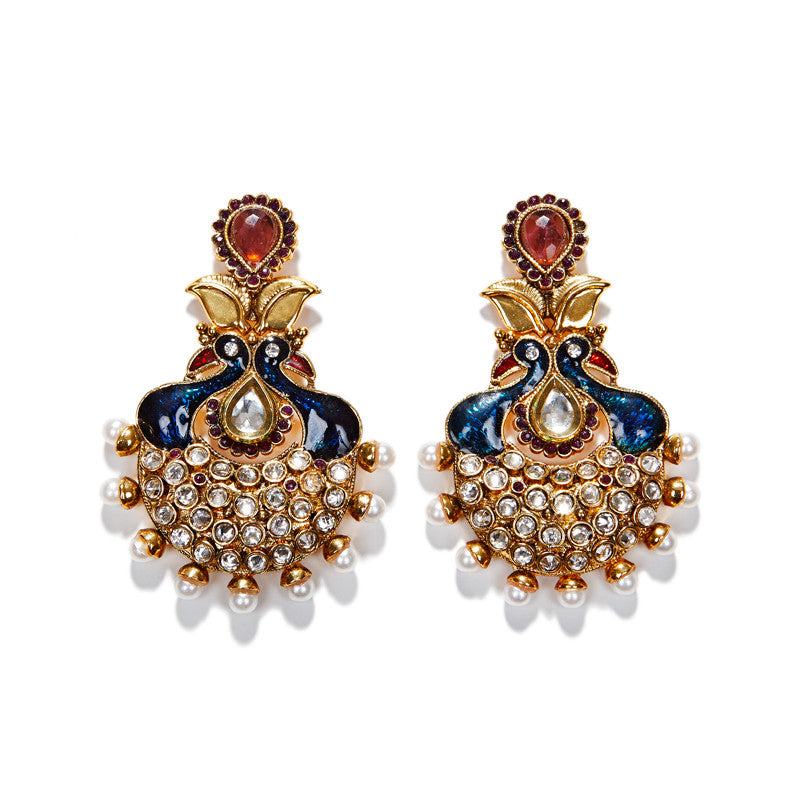 Royal Peacock Earrings