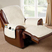 Load image into Gallery viewer, Natural Poly Fleece Recliner Cover