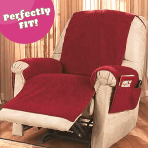 Natural Poly Fleece Recliner Cover