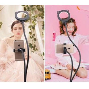 Professional Portable LED Light with Cell Phone Holder Storioh