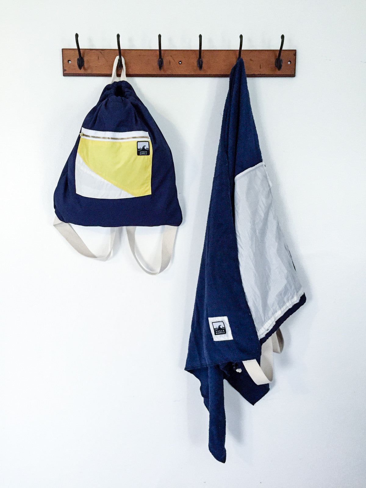 Navy Backpack | Navy Towel