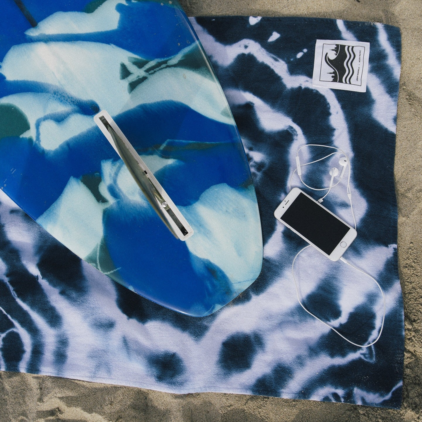 UB x Noon Pacific Indigo Tie Dye Beach Towel