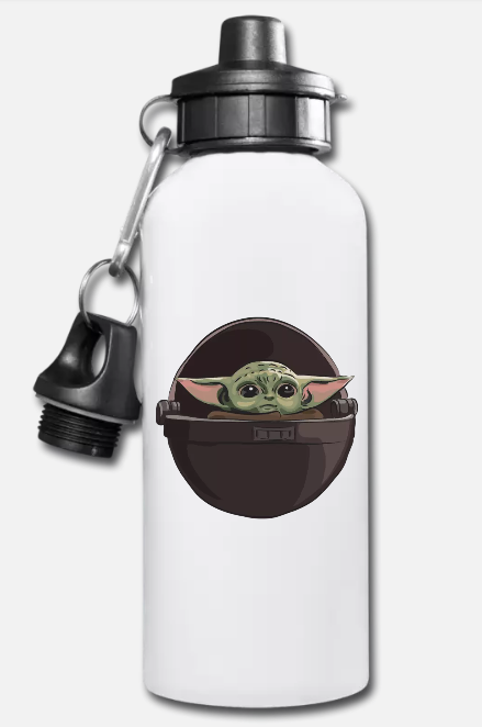 Baby Yoda Aluminum Water Bottle