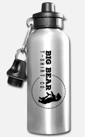 Big Bear T-Shirt Aluminum Water Bottle