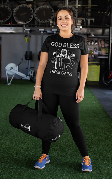 God Bless These Gains Workout T-Shirt