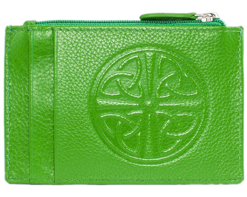 Celtic Leather I.D. Holders with RFID Blocking Technology - Emerald