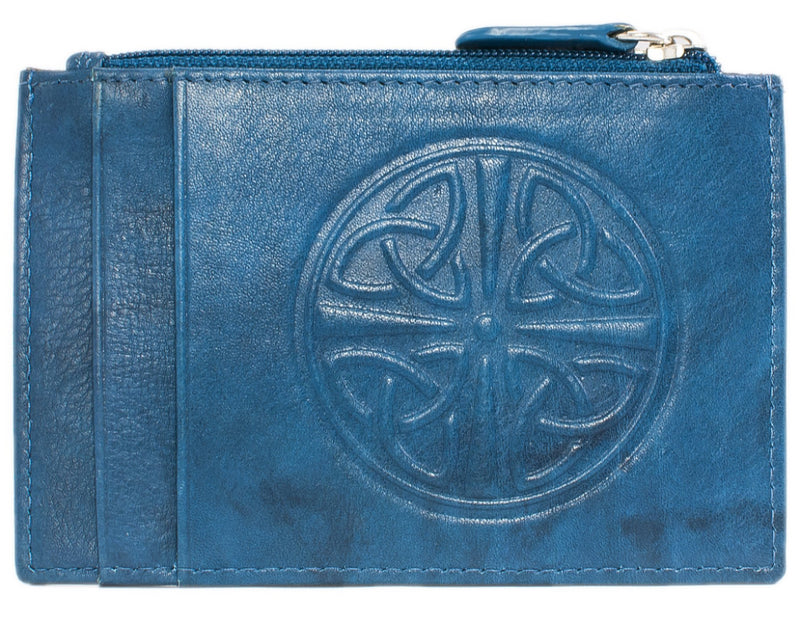 Celtic Leather I.D. Holders with RFID Blocking Technology - Jeans Blue