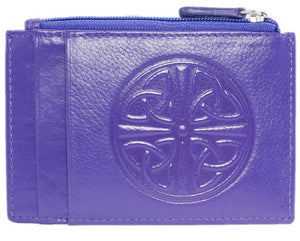 Celtic Leather I.D. Holders with RFID Blocking Technology - Purple
