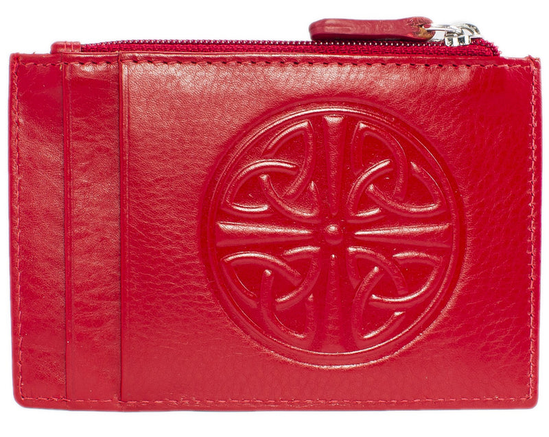 Celtic Leather I.D. Holders with RFID Blocking Technology - Red