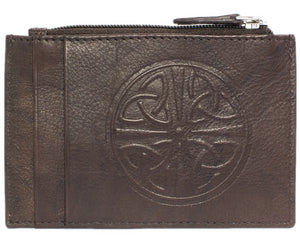Celtic Leather I.D. Holders with RFID Blocking Technology - Walnut