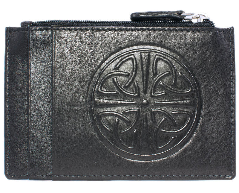 Celtic Leather I.D. Holders with RFID Blocking Technology - Black