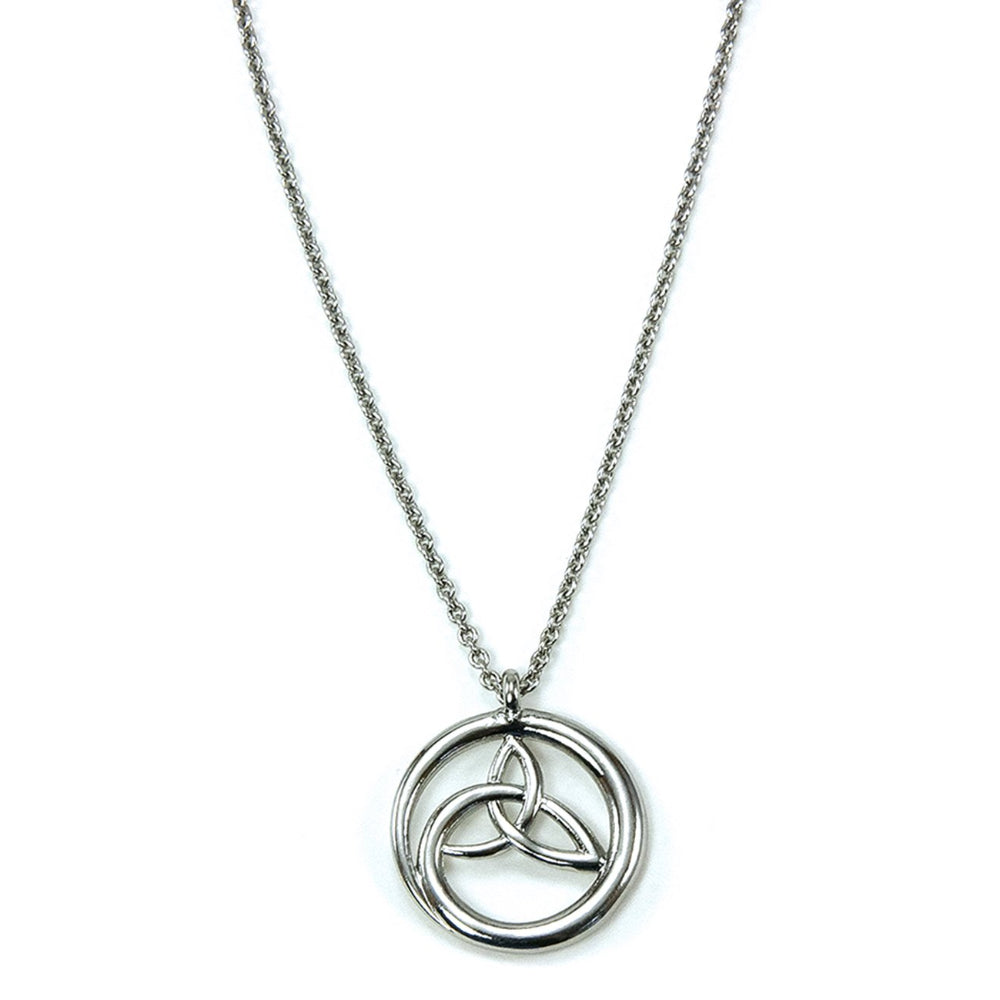 Swirling Trinity Knot Necklace