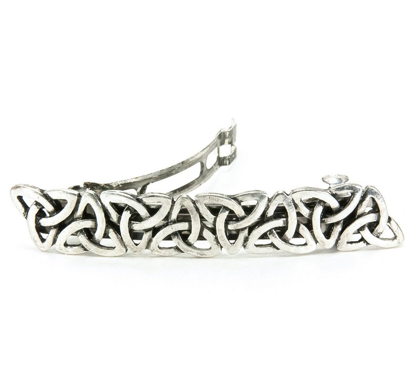 Repeating Trinity Knot Silvertone Barrette