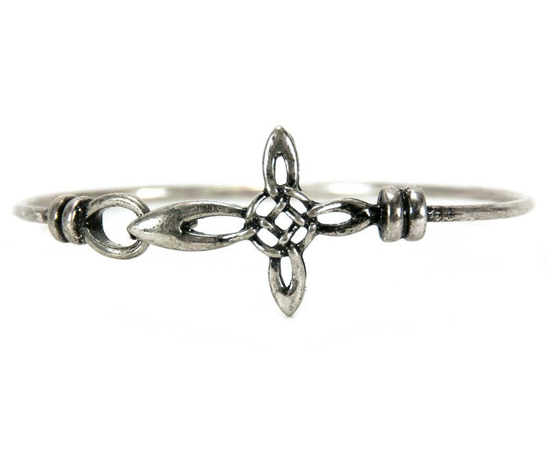 Celtic Cross Pewter Bangle