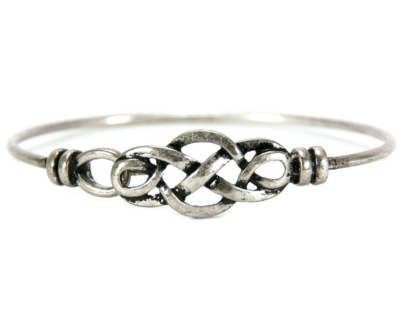 Celtic Knot Pewter Bangle