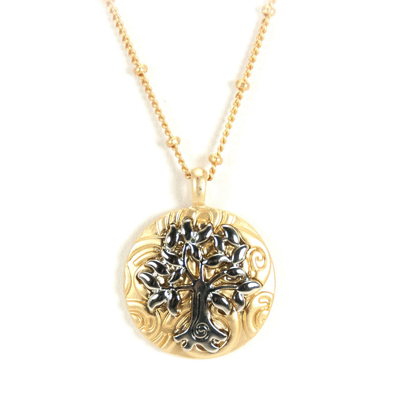Tree of Life Goldtone Necklace