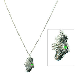 My Heart Belongs to Ireland Necklace - Silvertone