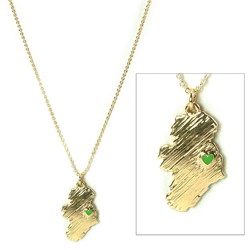My Heart Belongs to Ireland Necklace - Goldtone