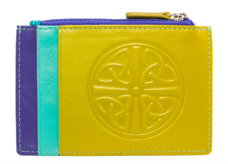 Celtic Leather I.D. Holders with RFID Blocking Technology - Cool Tropics