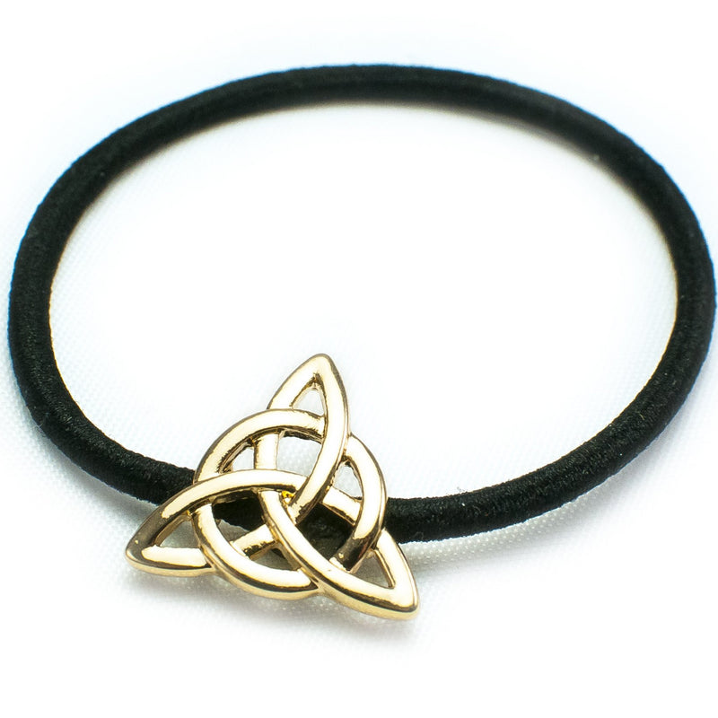 Petite Celtic Trinity Goldtone Ponytail Holder
