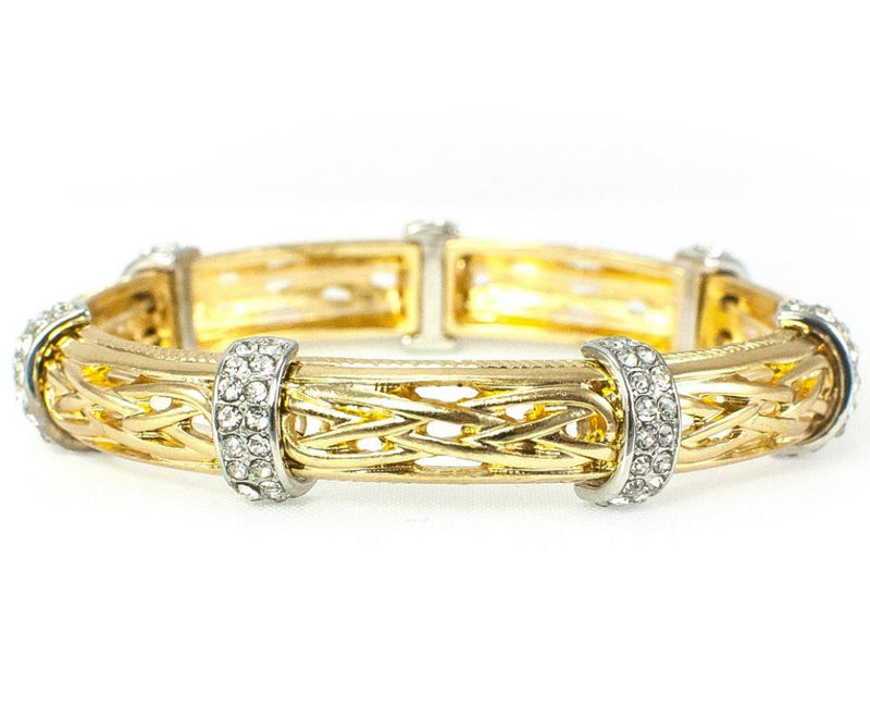 Celtic Crystal Bracelet - Goldtone