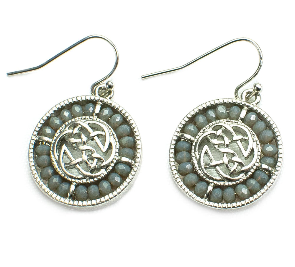 Beaded Celtic Earrings