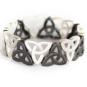 Trinity Knot Stretch Bracelet - Two-Tone